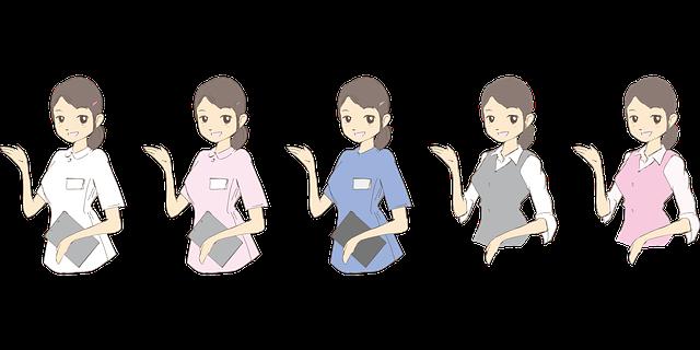 pět pracujících žen